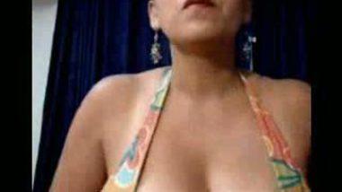 Busty boobies' receptionist masturbating for sensual pleasure