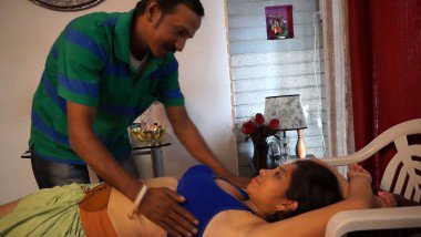 Adult foreplay smooch scene in porn movie