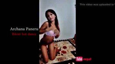 Archana Paneru hot dance in bikini