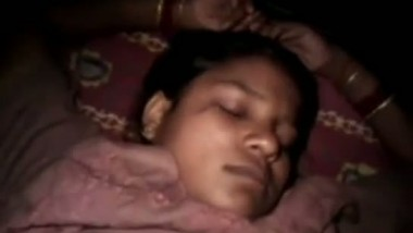 Sleeping Indian wife getting exposed after waking her up