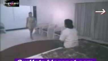 Ramya removing cloth front of lover