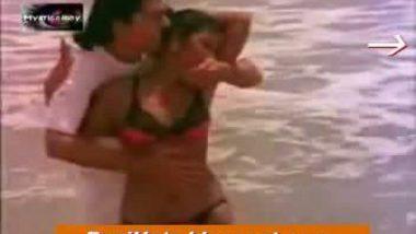 desi sexy girl in two piece bikini hot boobs thighs waist navel strong