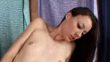 Petite Brunette Lies There And Takes It