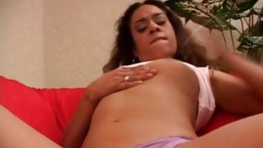 Estella Leon Slides A Toy Into The Wet Hole