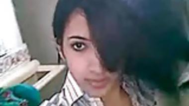 Hot Desi girl recording selfie for boyfriend