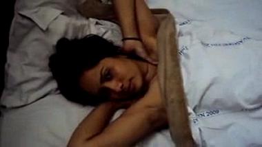 Home sex tape of Andhra bhabhi sucking big black dick