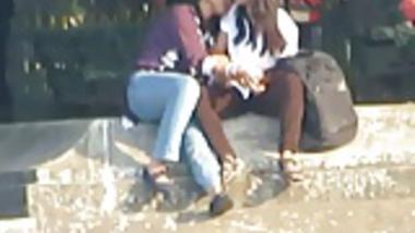 Indian Lesbians Smooch Publicly