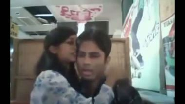 Indian college teen cafe romance with lover