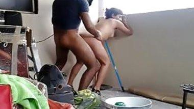 Desi teen couple having hoteest sex in balcony