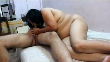 Indian aunty mature sex & blowjob hot session with boss