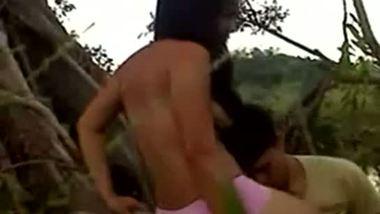 College teen outdoor freesex video
