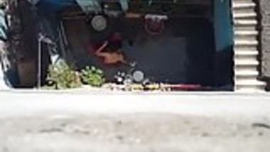Neighbor Bhabhi Bath