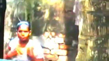 Mallu aunty's outdoor bath video
