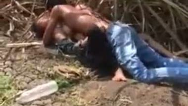 Village teen having outdoor sex in a sugarcane field