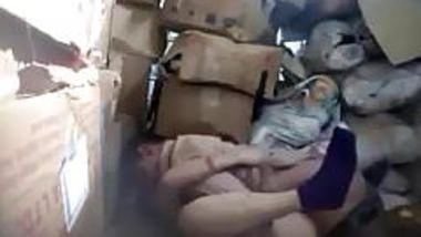 Boss fucking nepali worker in store room