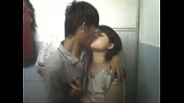Desi guy's sex with hot teen inside the bathroom