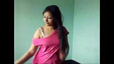 Bengali teen stripping to show her ass