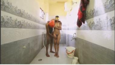 Sexy Telugu Girl Romances While Bathing