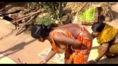 Hot Tits Of Village Woman Bathing