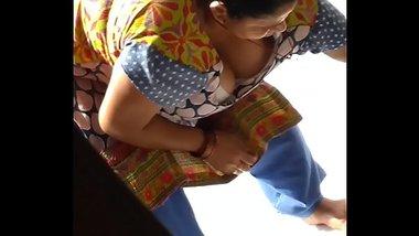 Indian maid boob show