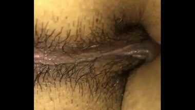 Sleeping Indian wife butt massage
